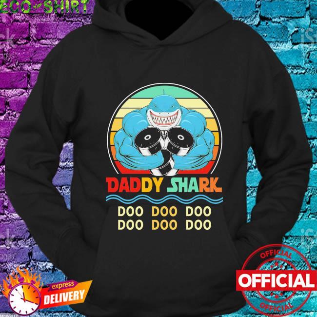 Daddy shark doo doo doo vintage s hoodie